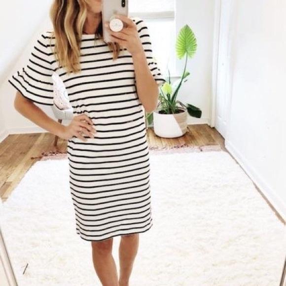 Striped J crew dress